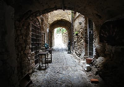 Medieval artists village Bussana Vecchia in Liguria