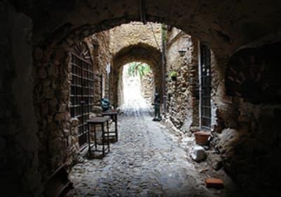 Medieval town of Bussana Vecchia in Liguria
