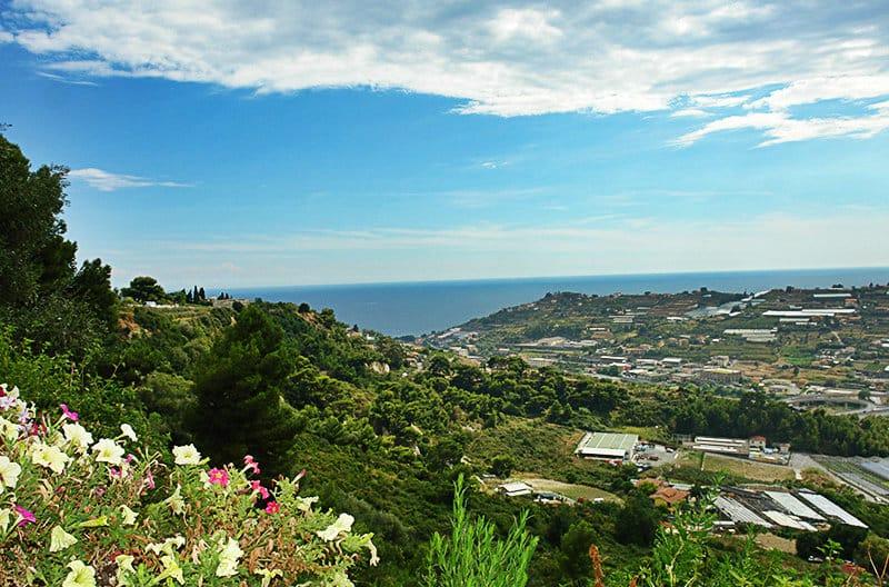 A beautiful panoramic view of Bussana Vecchia