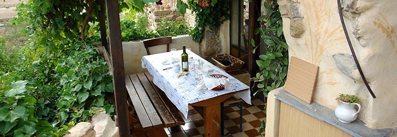 Restaurant in Bussana Vecchia in Liguria