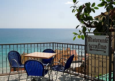 View from a terrace of Cafe Serafino in Cervo