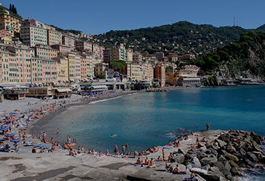 Picturesque promenade of Camogli