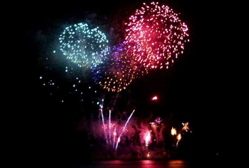 Spektakuläre Feuerwerke in Sanremo
