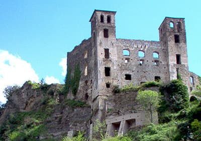 The castle of Doria in Dolceacqua which stays on the top of the hill