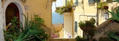 View of Cervo city in Liguria