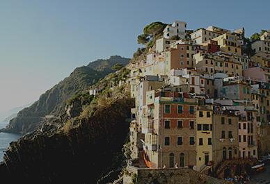 Colorful house facades in Cinque Terre