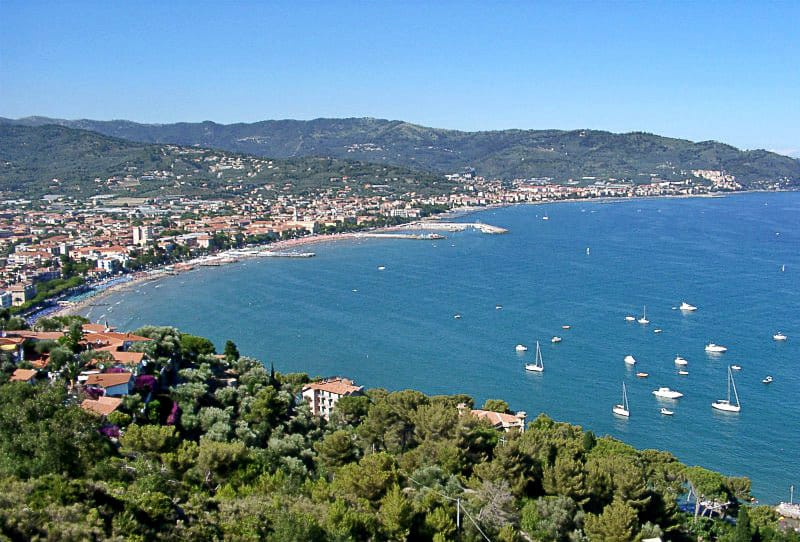 A view of the beautiful coastal town of Diano Marina