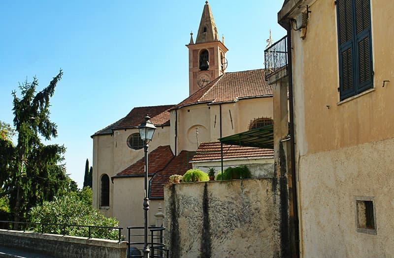 A beautiful church in Diano San Pietro, Liguria