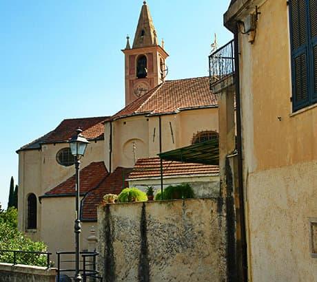 View of Diano San Pietro city in Liguria