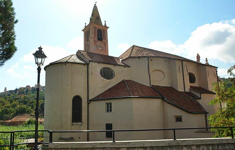 A church in Diano San Pietro, Liguria