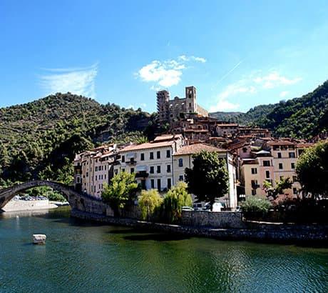 View of Dolceacqua city in Liguria