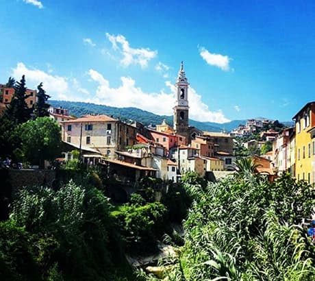 View of Dolcedo city in Liguria