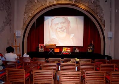 The film art room in Villa Grock, Liguria