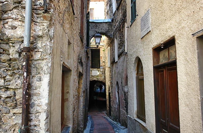 Medieval street in Triora, in Liguria