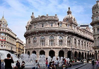 Piazza de Ferrari in Genoa, Liguria