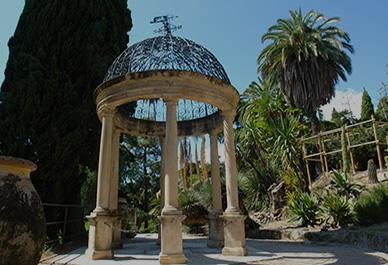 Botanical garden at Hanbury Villa
