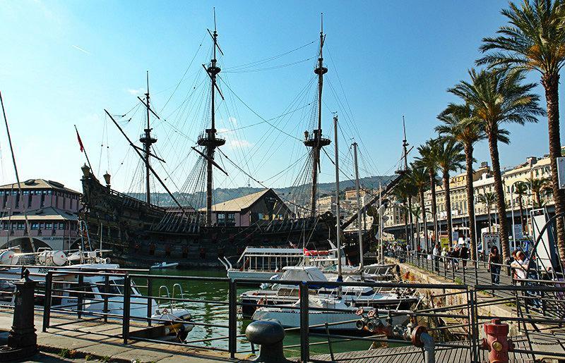 Een mooie haven van Genua