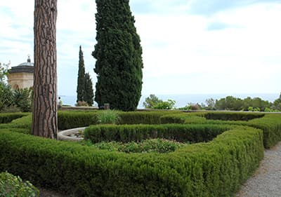 Giardini Hanbury in Liguria, Italy