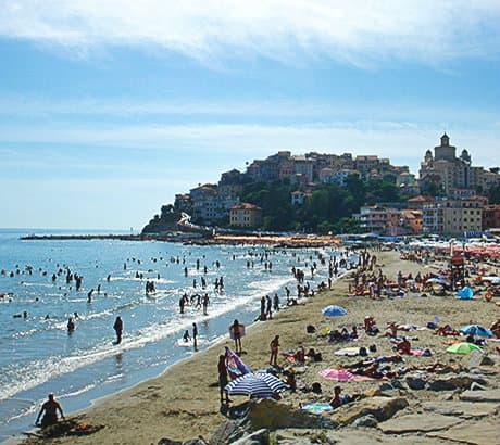 View of Imperia city in Liguria