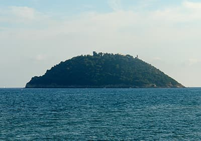 Isola Gallinara near of Albenga
