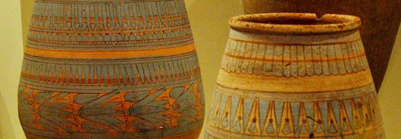 Ceramic vases in a museum in Liguria
