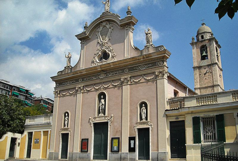 An old church in Varazze, Liguria