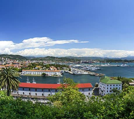 View of La Spezia city in Liguria