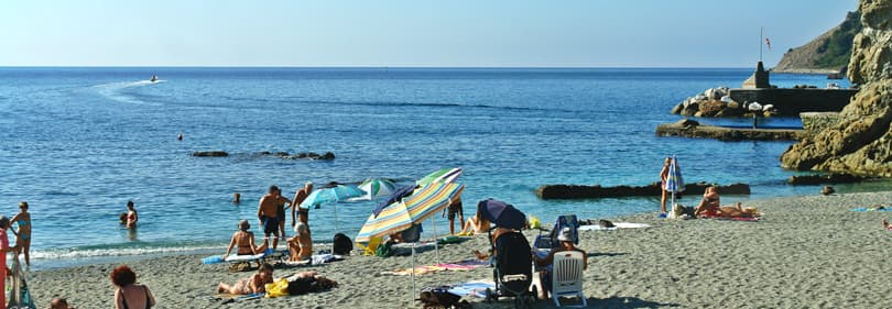 Beach in the province of La Spezia, Liguria