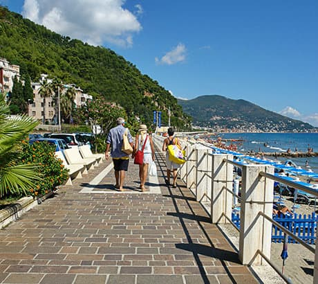 View of Laigueglia city in Liguria