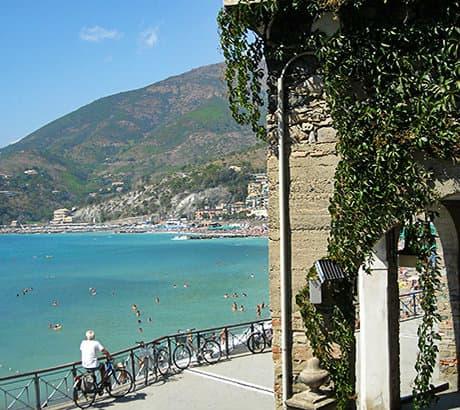 View of Levanto city in Liguria