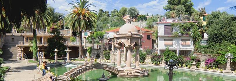 Park von Villa Grock in Ligurien