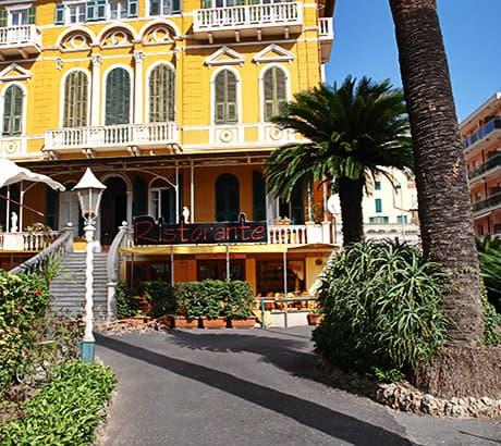 View of Pietra Ligure city in Liguria