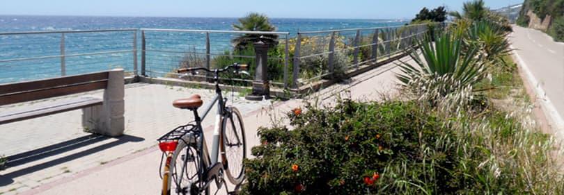 Pista Ciclabile, the 26 km bike path along the Ligurian coast