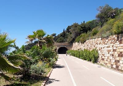 A tunnel in the Pista Ciclabile bike path