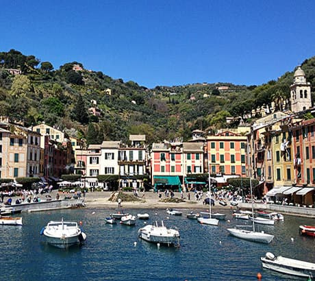 A beautiful view of the port in Portofino