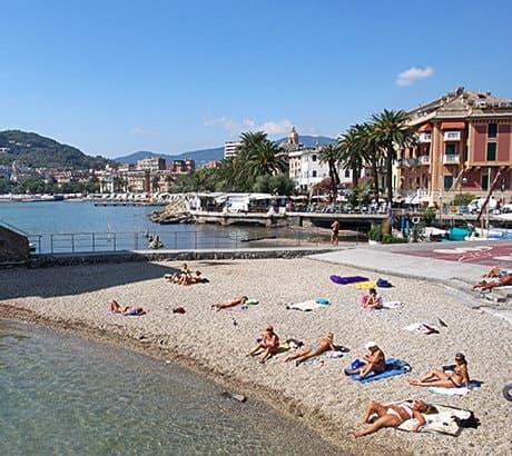 View of Rapallo city in Liguria
