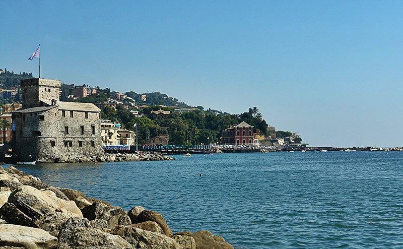 Een prachtig uitzicht op de zee in Rapallo