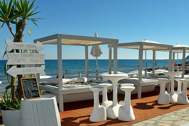 Restaurant at the seaside in Diano Marina