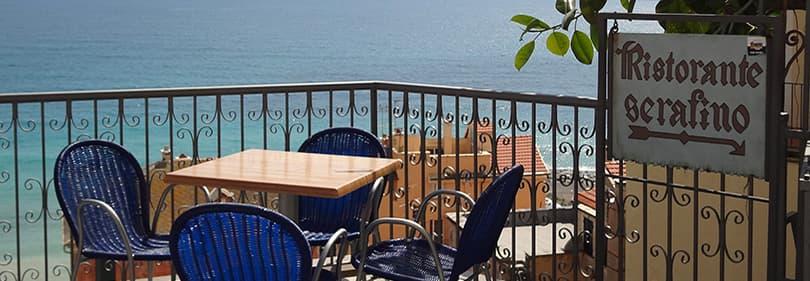Ristorante Cafe Serafino in Cervo, Ligurien