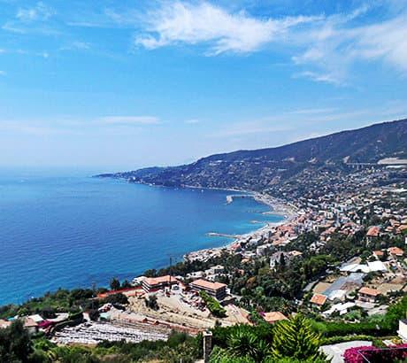 View of Sanremo city in Liguria