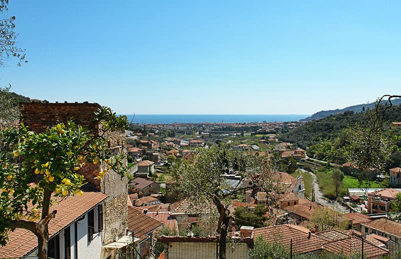 A view of a beautiful village of Diano San Pietro