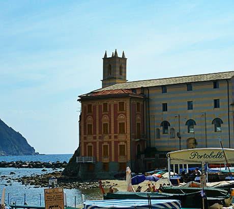 View of Sestri Levante city in Liguria