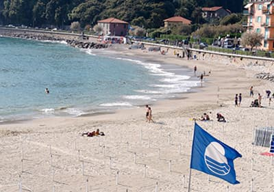 Bandiera Blu beach in Liguria