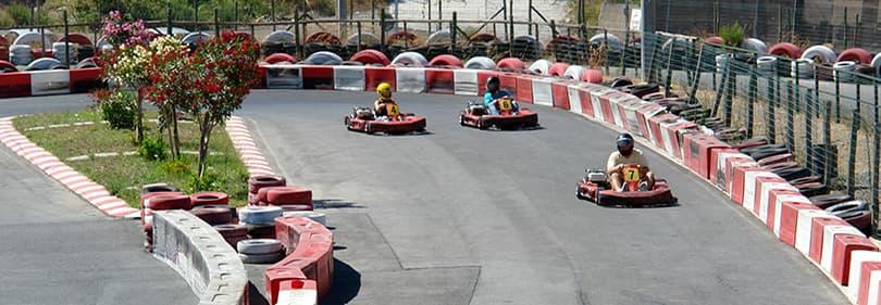 Go-kart racing in Liguria