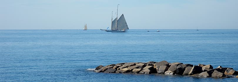 Sailing in Liguria, Italy