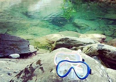 Snorkelling masks in Liguria