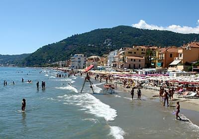 Beach in Alassio, Liguria