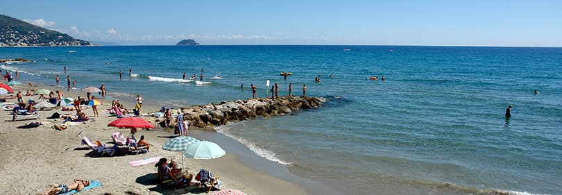 Beach in Laigueglia, Liguria