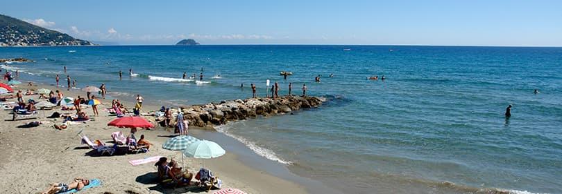 Beach in Laigueglia, Liguria