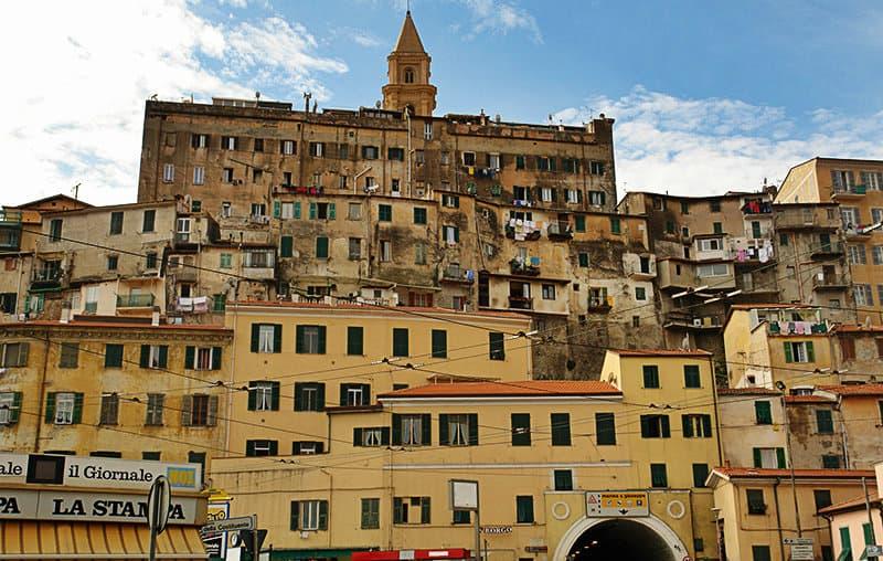 Beautiful houses in Ventimiglia, Liguria